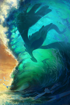 Lugia in the Ocean