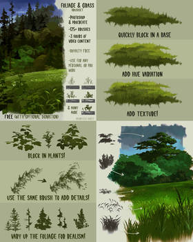 Free Foliage + Grass Brushset