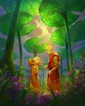 Aang meets Jinora
