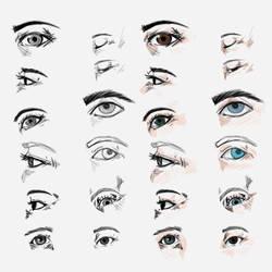 Second eyes practice (practica y estudio del ojo) by alansketch21