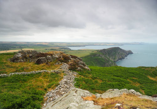 Coastal view and iron age hill fort