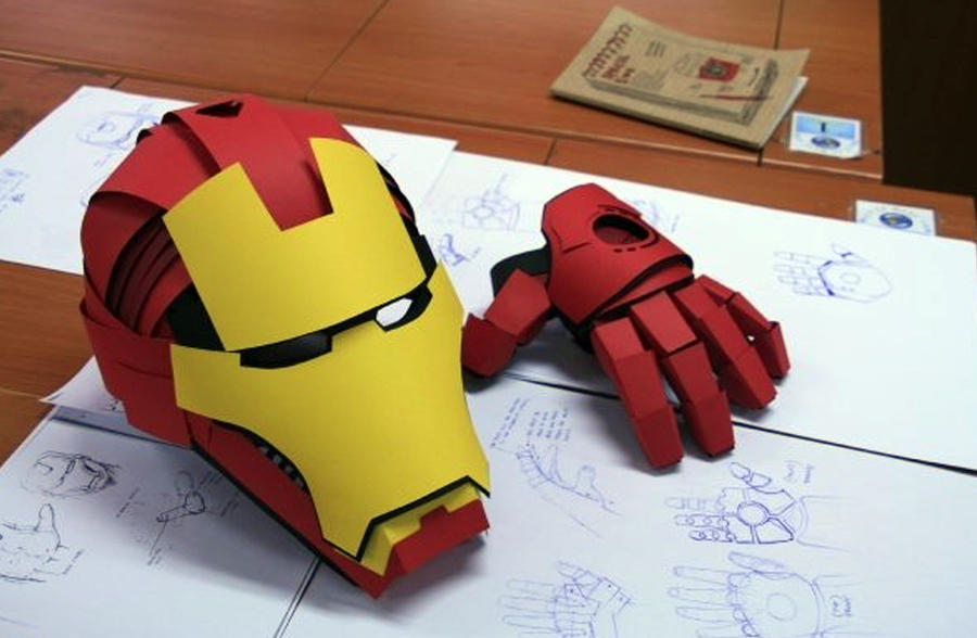 Iron Man Origami By Omaiyee