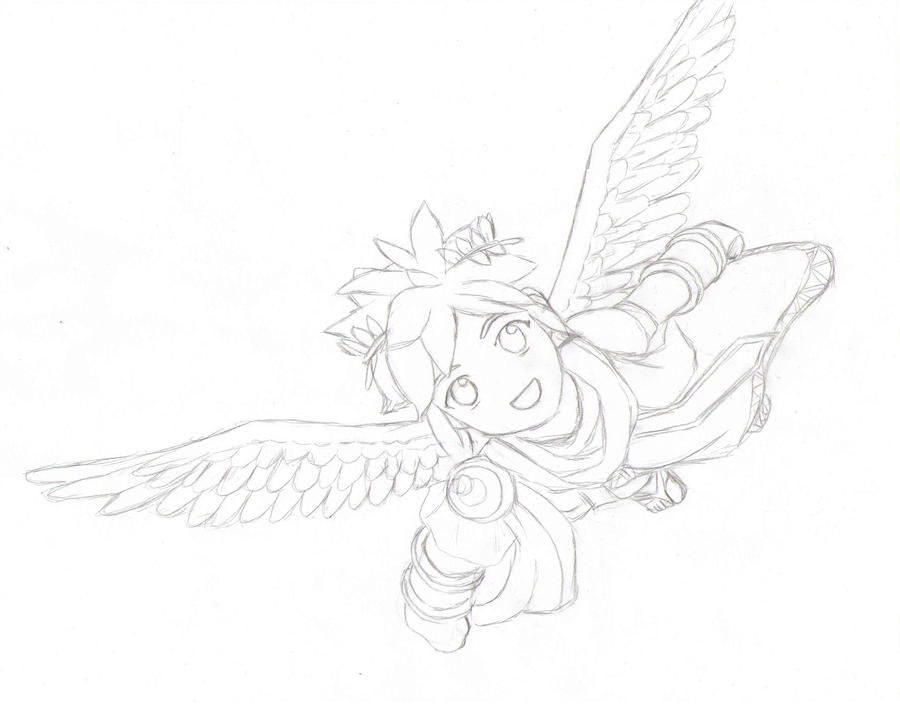 Sketch Of Pit From Kid Icarus By MeIsPlinfa