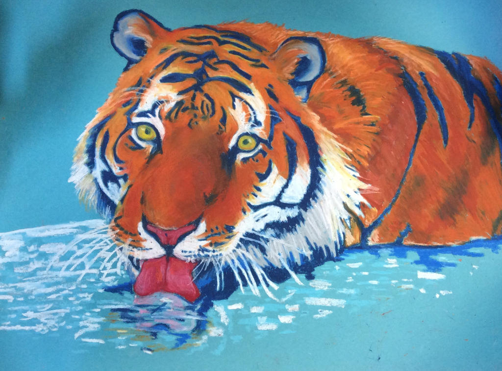 Tiger - pastel by Mia-Oneill