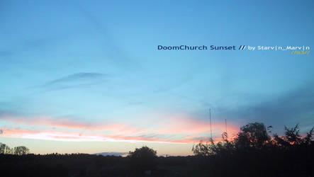 d00mchurch sunset 3