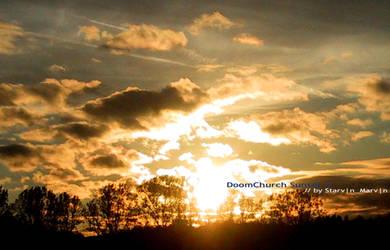 d00mchurch sunset 4