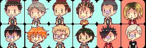 F2U: Haikyuu Pixel Icons