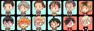 F2U: Haikyuu Pixel Icons by teasomething