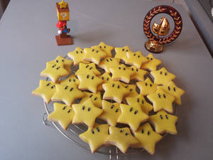 Edible Super Mario stars