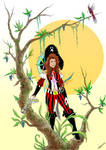 Emily as a Pirate