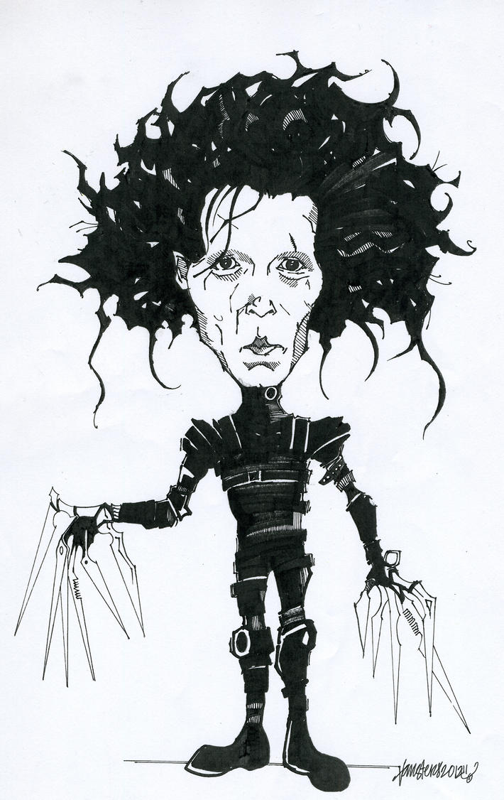 Edward Scissorhands Drawing :D by vansters
