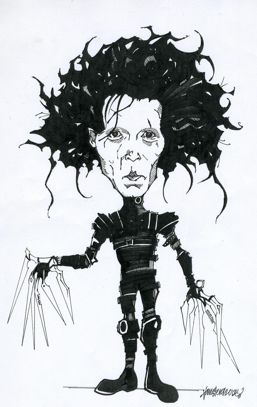Edward Scissorhands Drawing D By Vansters On Deviantart