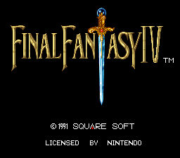 Final Fantasy IV Americanized Title Screen