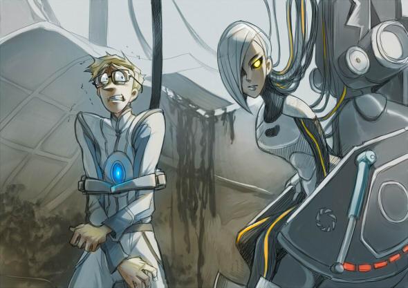 Portal 2: You monster by pinali