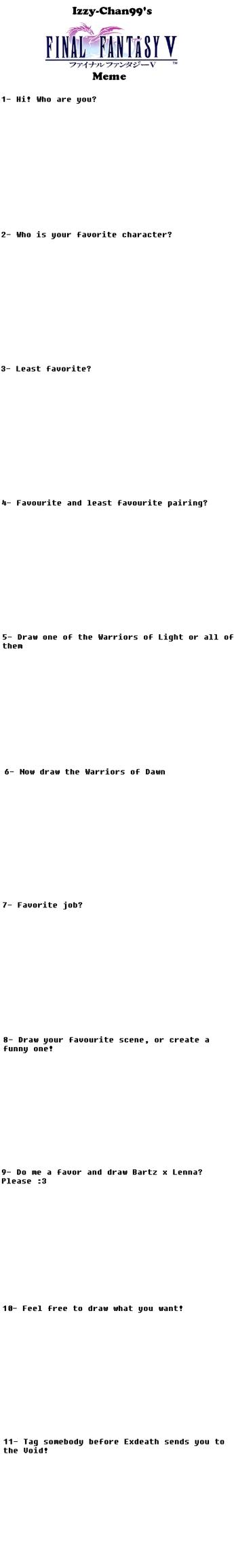 Final Fantasy V meme by HansCampanella