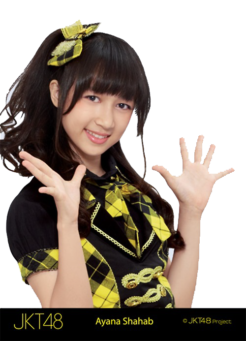Ayana JKT48 Yellow PNG by QueenSashiko