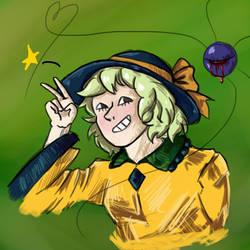 Koishi Doodle by PatchyBirb