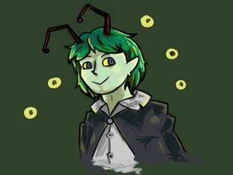 Wriggle Nightbug Doodle by PatchyBirb