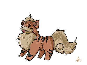 Growlithe Doodle by PatchyBirb
