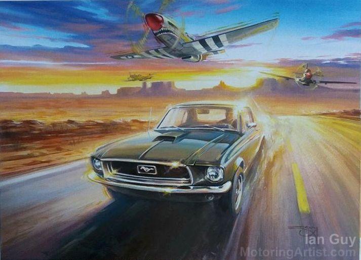 Mustang Flypast by MotoringArtist
