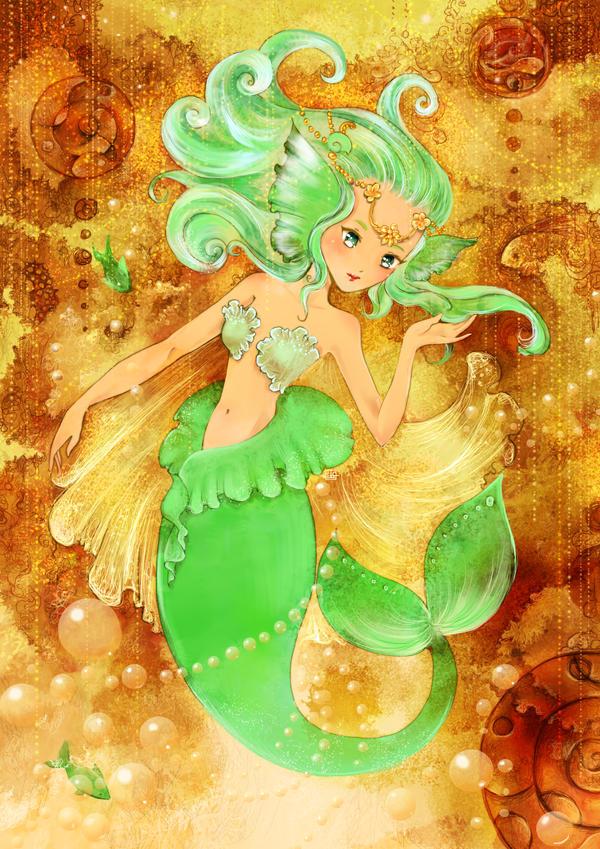 Golden Ocean by Fiorina-Artworks