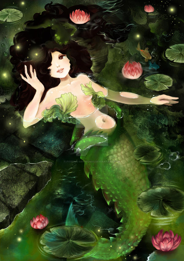 Swamp Mermaid by Fiorina-Artworks