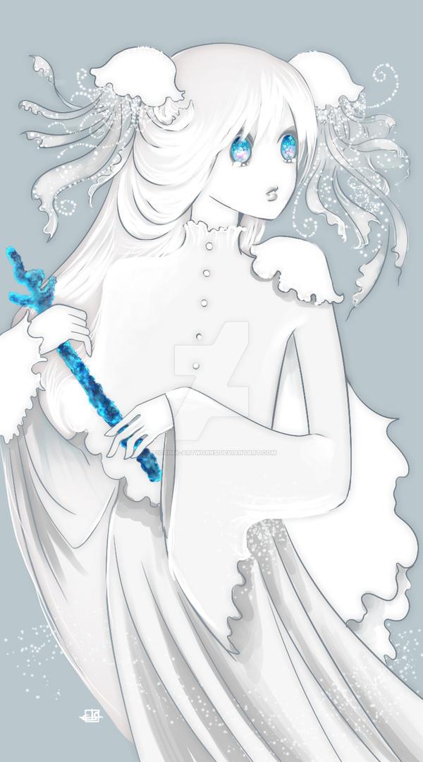 Jellyfish girl dress by Fiorina-Artworks
