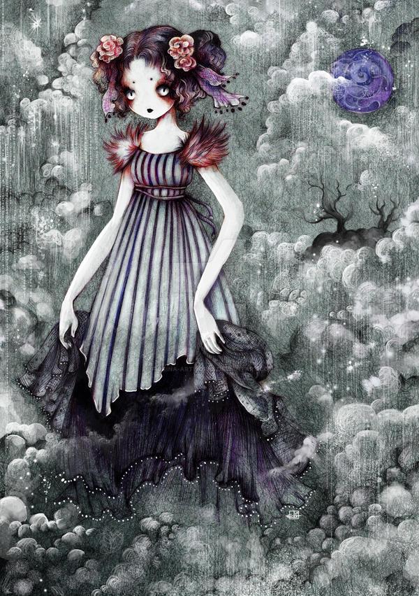 Ghost Bride Rain by Fiorina-Artworks
