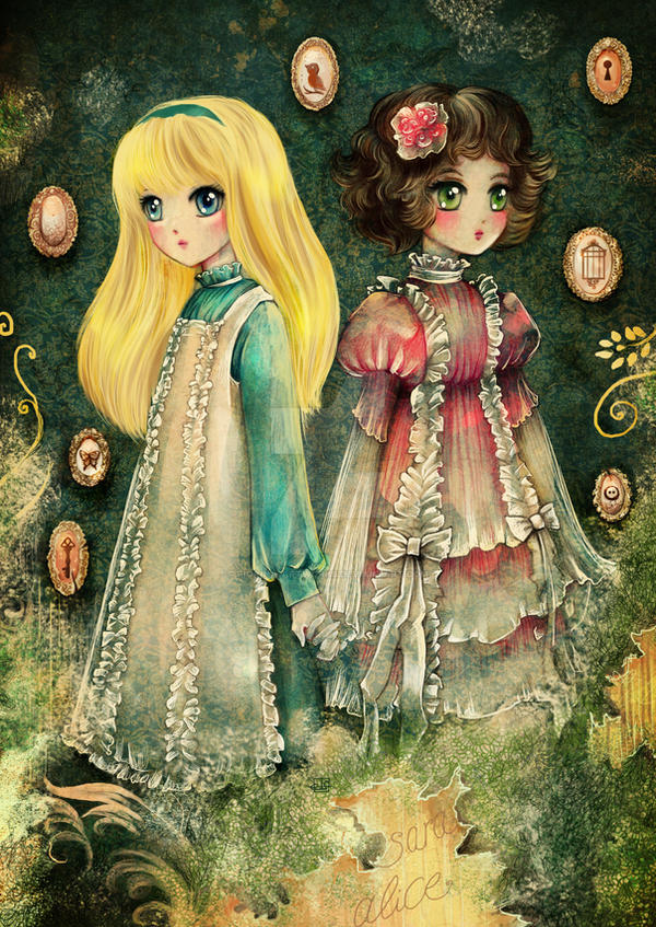 Sara and Alice by Fiorina-Artworks