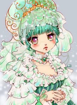 ACEO #200: Green Princess