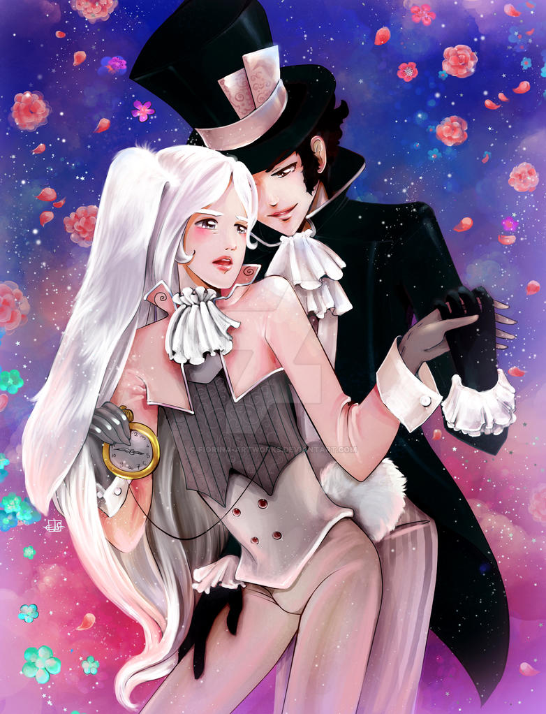 Hatter and Rabbit by Fiorina-Artworks