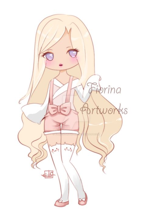 ~ Chibi Kitty Stockings ~ Chibi Commissions ~ by Fiorina-Artworks