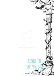 Book page illustration - Bat