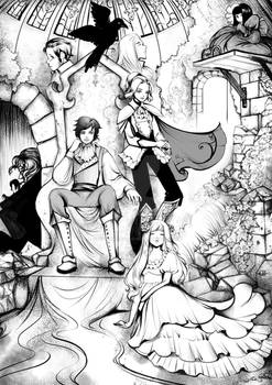 Book page illustration - All characters