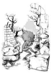 Book page illustration - Goblin