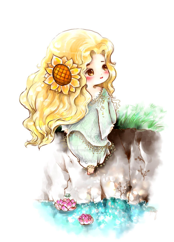 Chibi Himawari by Fiorina-Artworks