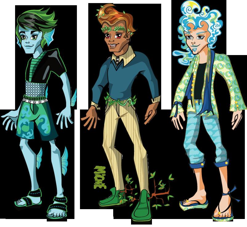 Monster High Elemental Boy Earth Elemental Boy