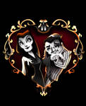 Drawlloween Number 12 (I guess) Morticia and Gomez