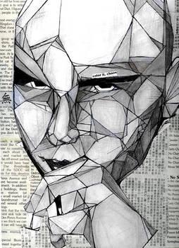 Billy Corgan cubism