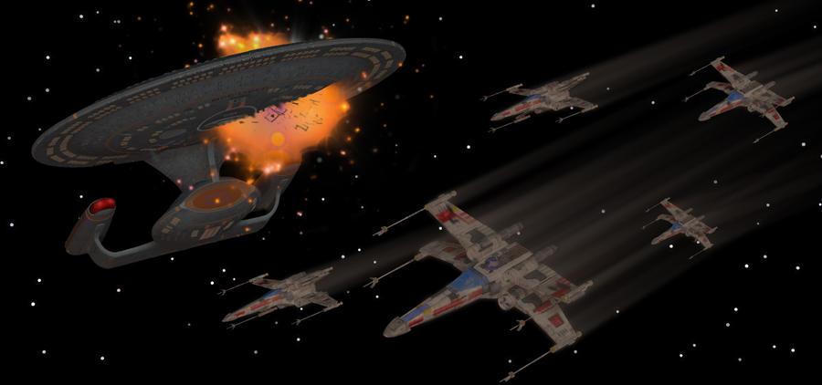 Star Wars versus Star Trek by bdy