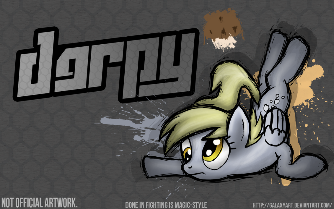 Fighting is Magic - Derpy Hooves *Commission by Galaxyart