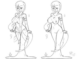 Sira's Model Sketch (Tales of Faenia game project) by Fatelogic