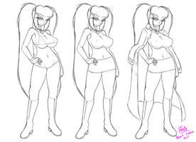 Nym's Costume Sheet Sketch - Original Sin Project by Fatelogic