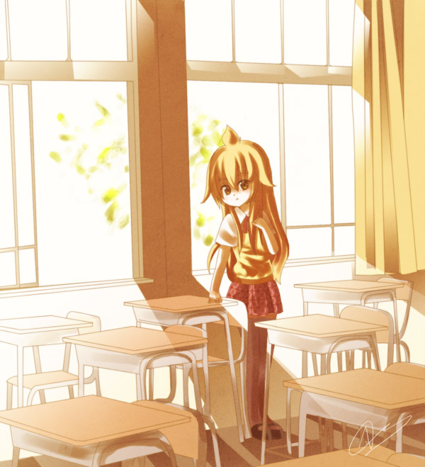 some photo............. Chiaki_in_the_Classroom_by_Mrowr