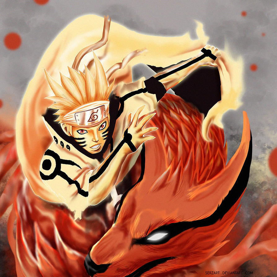 Naruto Kurama Mode Wallpapers Group 67: Naruto Bijuu By Serzart On DeviantArt