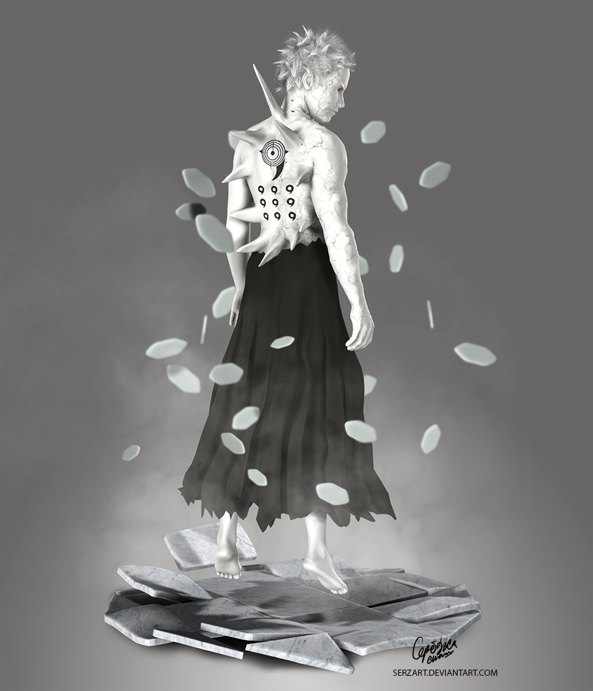 Obito Jinchuuriki (3D) by Serzart