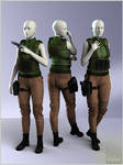 Ranger Outfit for Genesis 3 Female