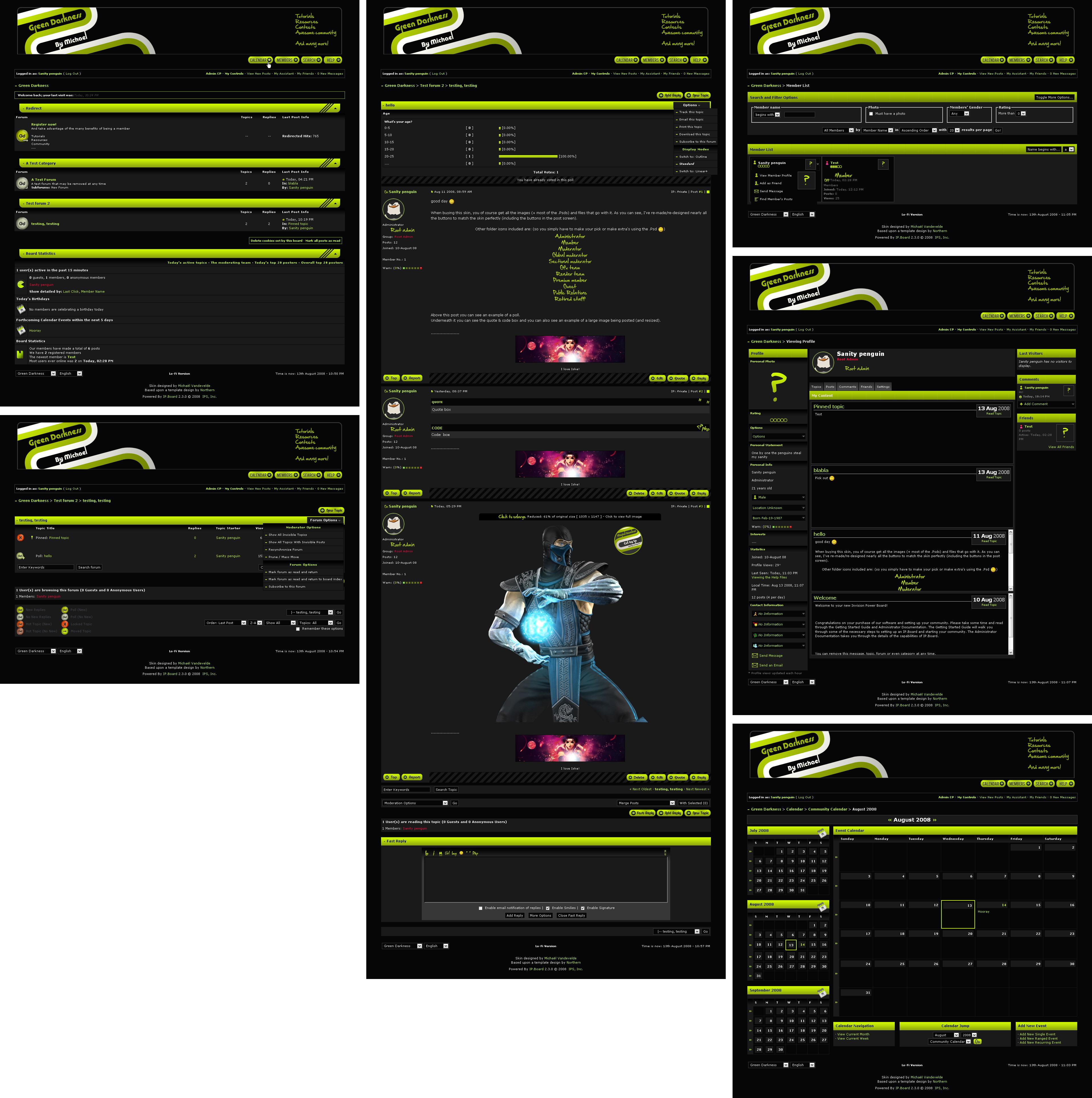 Green Darkness - Ipb forumskin by SanityP