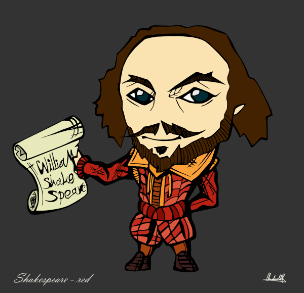 Shakespeare chibi - red by SanityP