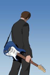 Guitarist vector by SanityP